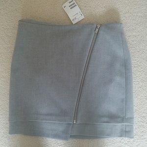 NWT Asymmetric grey mini skirt